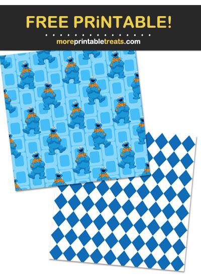 Free Printable Sesame Street Characters Scrapbook Papers