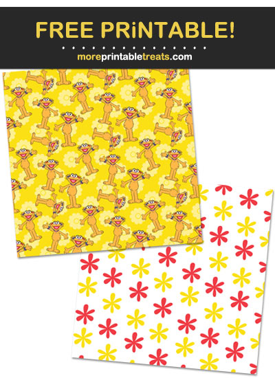 Free Printable Sesame Street Characters Theme Paper