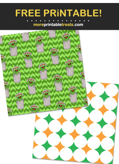 Free Printable Sesame Street Characters Wrapping Paper