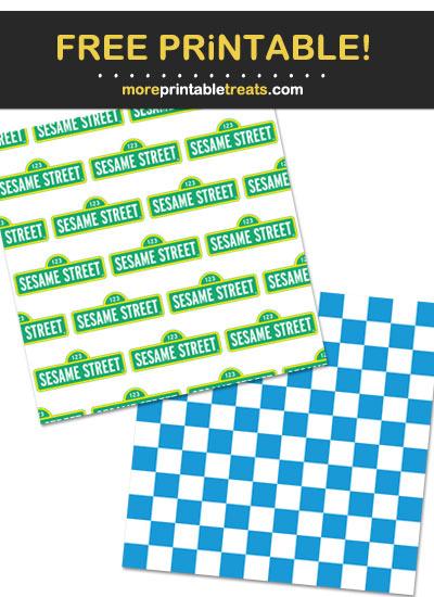 Free Printable Sesame Street Pattern Paper