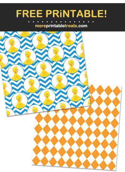 Free Printable Sesame Street Scrapbook Papers