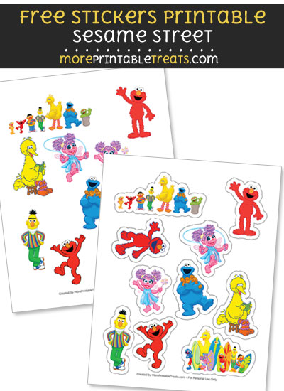 Free Sesame Street Stickers to Print at Home