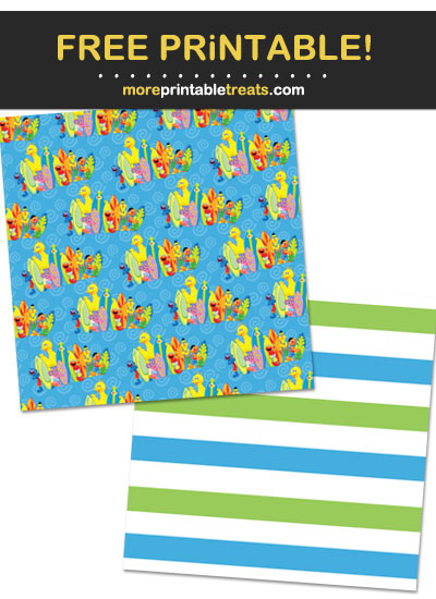 Free Printable Sesame Street Wrapping Paper