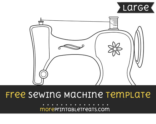 Free Sewing Machine Template - Large
