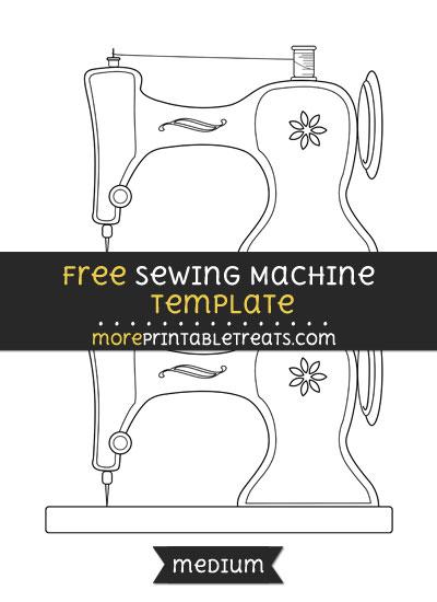 Free Sewing Machine Template - Medium