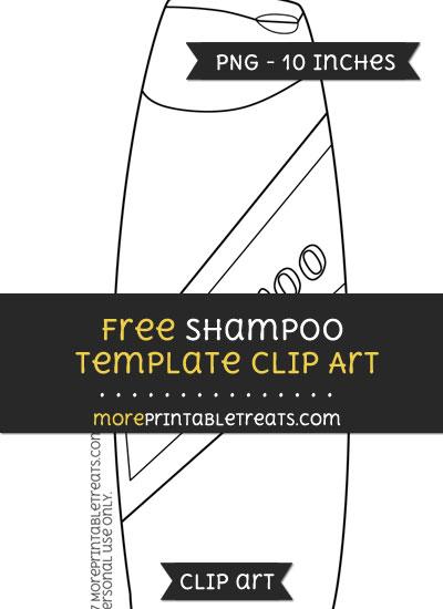Free Shampoo Template - Clipart