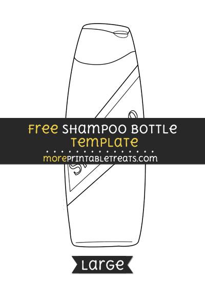 Free Shampoo Template - Large