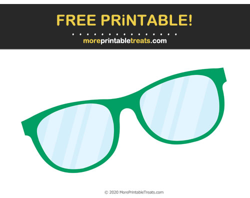 Free Printable Shamrock Green Glasses Cut Out