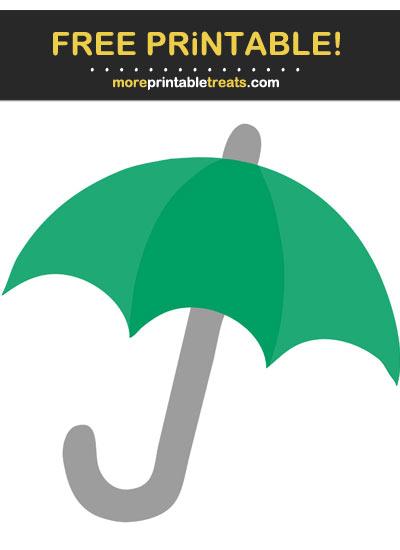 Free Printable Shamrock Green Umbrella Cut Out
