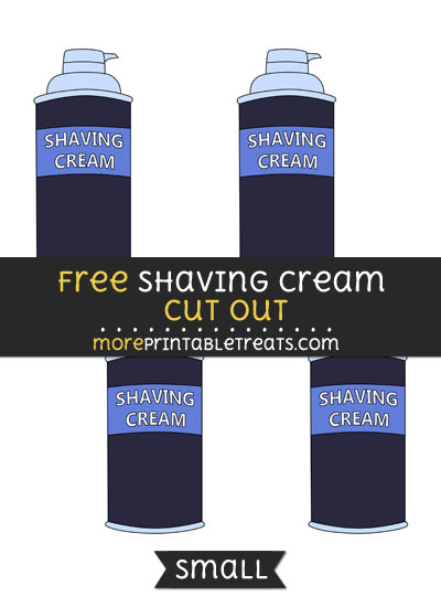 Free Shaving Cream Cut Out - Small Size Printable