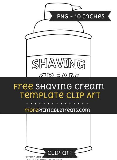 Free Shaving Cream Template - Clipart
