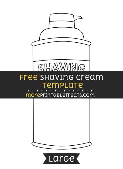 Free Shaving Cream Template - Large