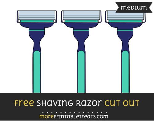 Free Shaving Razor Cut Out - Medium Size Printable