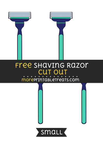 Free Shaving Razor Cut Out - Small Size Printable