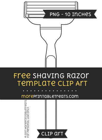 Free Shaving Razor Template - Clipart