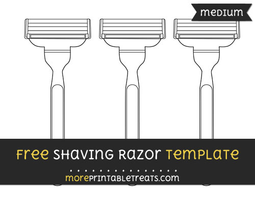Free Shaving Razor Template - Medium