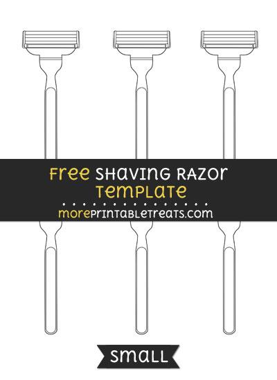 Free Shaving Razor Template - Small