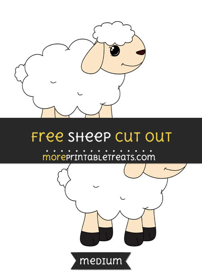 Free Sheep Cut Out - Medium Size Printable