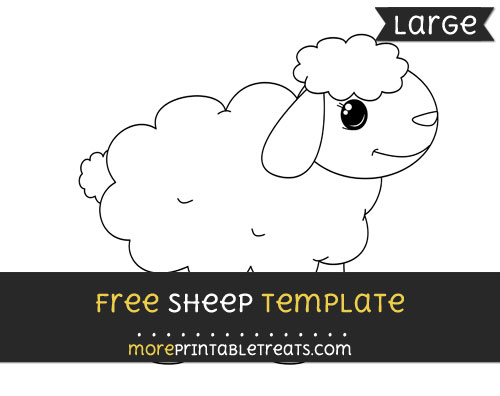 Free Sheep Template - Large
