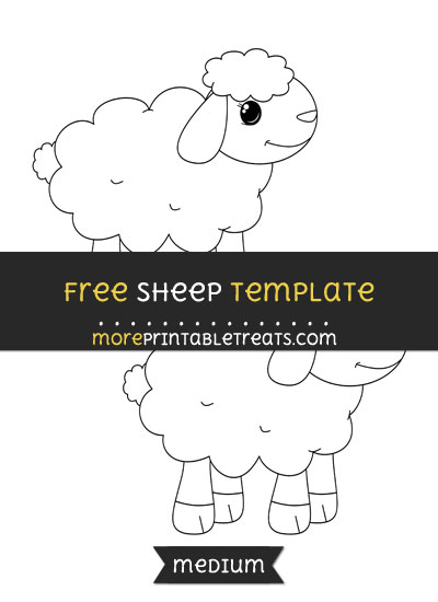Free Sheep Template - Medium