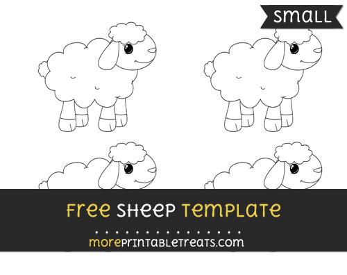 Free Sheep Template - Small