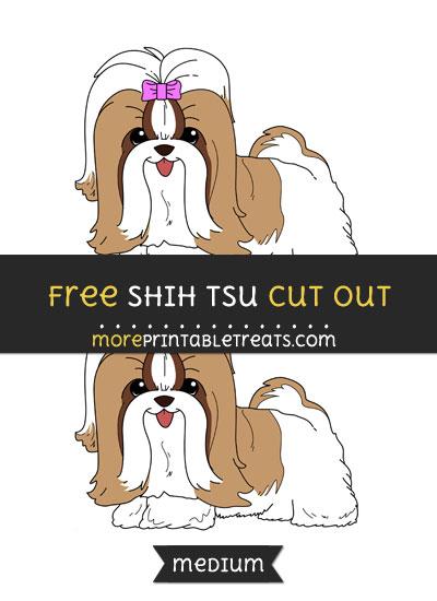 Free Shih Tsu Cut Out - Medium Size Printable