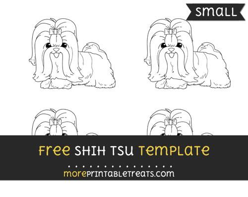 Free Shih Tsu Template - Small