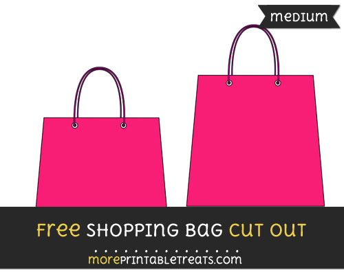 Free Shopping Bag Cut Out - Medium Size Printable