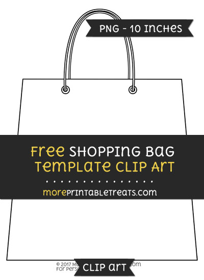 Free Shopping Bag Template - Clipart