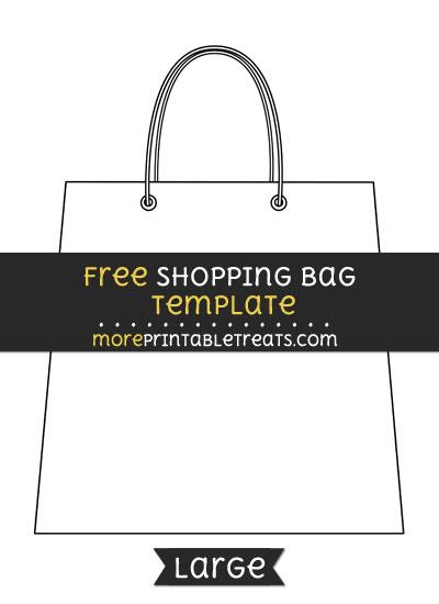 Free Shopping Bag Template - Large
