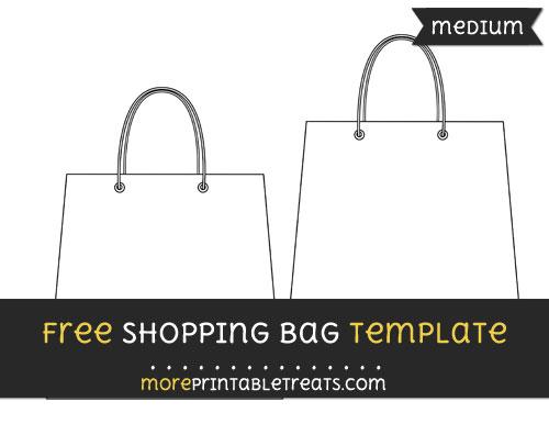 Free Shopping Bag Template - Medium