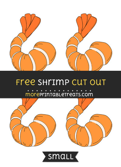 Free Shrimp Cut Out - Small Size Printable