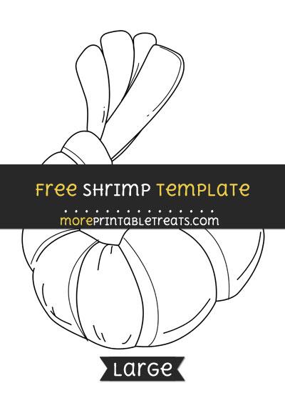 Free Shrimp Template - Large