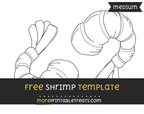Free Shrimp Template - Medium