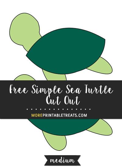 Free Simple Sea Turtle Cut Out - Medium