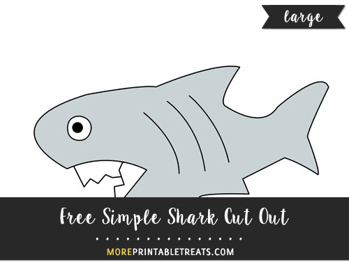 Free Simple Shark Cut Out - Large