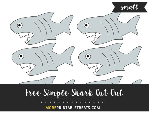 Free Simple Shark Cut Out - Small