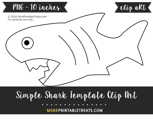 Free Simple Shark Template - Clipart