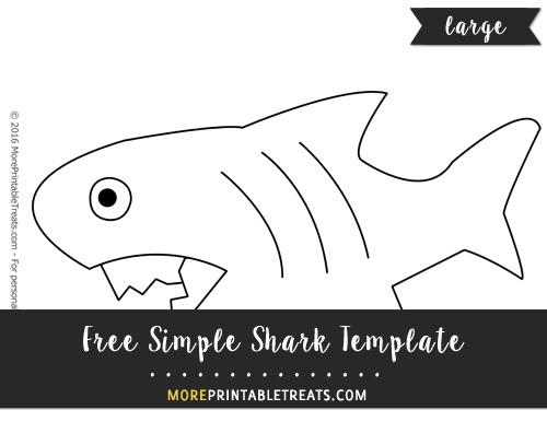 Free Simple Shark Template - Large