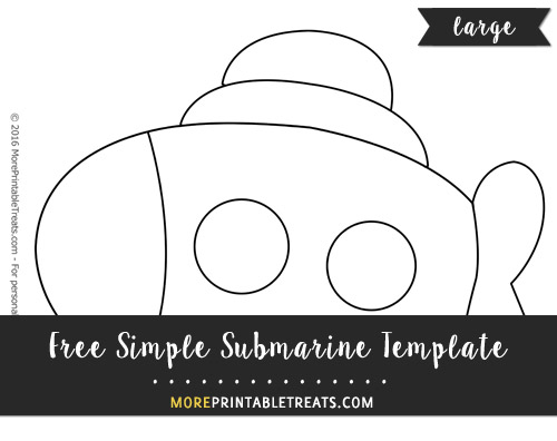 Free Simple Submarine Template - Large