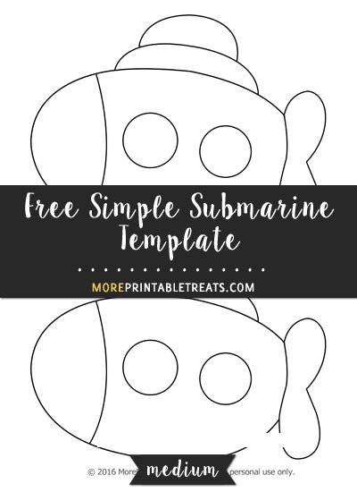 Free Simple Submarine Template - Medium
