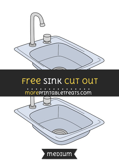 Free Sink Cut Out - Medium Size Printable