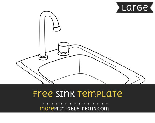 Free Sink Template - Large