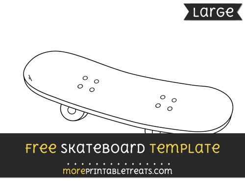 Free Skateboard Template - Large