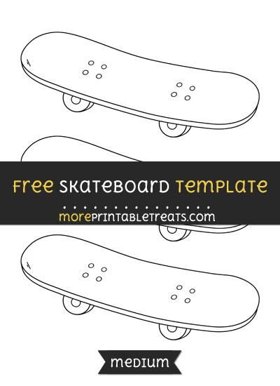Free Skateboard Template - Medium