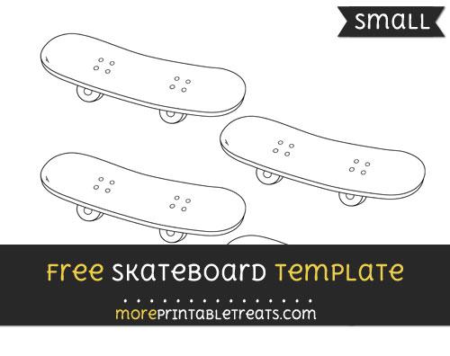 Free Skateboard Template - Small
