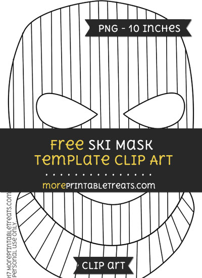 Free Ski Mask Template - Clipart