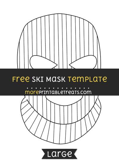 Free Ski Mask Template - Large