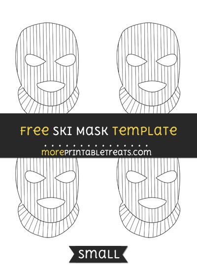 Free Ski Mask Template - Small