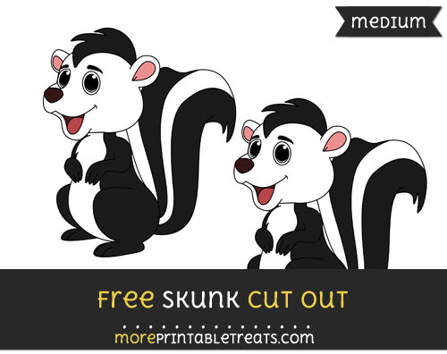 Free Skunk Cut Out - Medium Size Printable